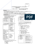 TRIMESTRE I evaluacion 4º