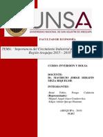 IMPORTANCIA DEL CRECIMIENTO INDUSTRIAL POR ACTIVIADES EN LA REGION AREQUIPA 2015 – 2018 ultima presentacion (PONGO, ANCO, QUISPE)