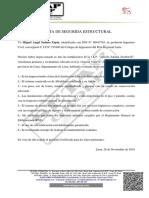 CARTA DE SEGURIDAD ESTRUCTURAL