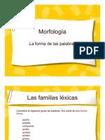 Morfología, la forma de las palabras.