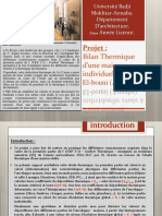 Application (projet )  Bilan Thermique d'1 maison individuelle