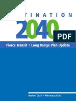 Pierce Transit - Destination 2040 Long-Range Plan Update