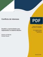 Conflicto Intereses Sistema Efectivo