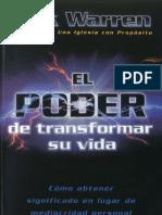 Rick Warren EL PODER DE TRANSFORMAR SU VIDA