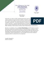 Watertown Police Department 02-14-2020 Mitchell-Rahim Arrest