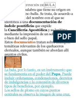 DEFINICIÓN DE BULA