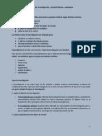 Tipos de Investigación, caracteristicas y ejemplos