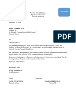 SAmple letter to the principal