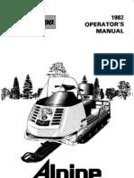 1982 Bombardier Alpine Operator's Manual