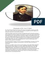 Dr Jose Rizal- biography