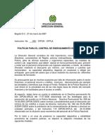 INST 045 DIPON OFPLA del 270307 POLÍTICAS PARA EL CONTROL DE ENDEUDAMIENTO DEL PERSONAL.pdf