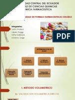 CONTROL DE CALIDAD DE FORMAS FARMACEUTICAS SOLIDAS