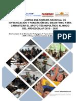 ORIENTACIONES DEL SISTEMA DE INVESTIGACION Y FORMACION DEL MAGISTERIO