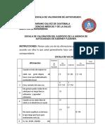BOLETA DE LA ESCALA DE VALORACION DE AUTOCUIDADO