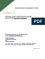 30 Nigeria-China Trade and Economic Relations Executive Summar