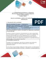 Guía de Actividades y Rúbrica de Evaluación - Unidad 1 - Fase 2 - Delimitación