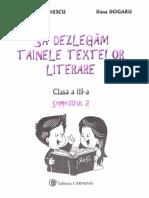 Sa dezlegam tainele textelor literare Cls 3.Sem 2 (I) Carmen Iordachescu