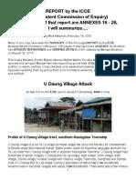 ICOE-U Daung Attack, Summarized