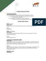 Cómo hacer la lista de referencias según Estilo Chicago (en inglés)
