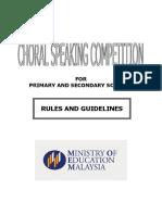 Choral Speaking Guidelines