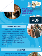 Church wedding marriage