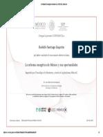 Certificado Tecnológico de Monterrey LREE1I01x _ MéxicoX