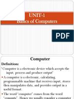 Unit-1 Basics of Computers