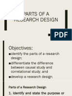 PARTS OF research design
