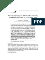 Mechanical Properties of M30 Grade Concrete usingBlast Furnace Aggregate- An Experimental Study
