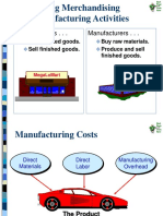 Comparing Merchandising and Manufacturing