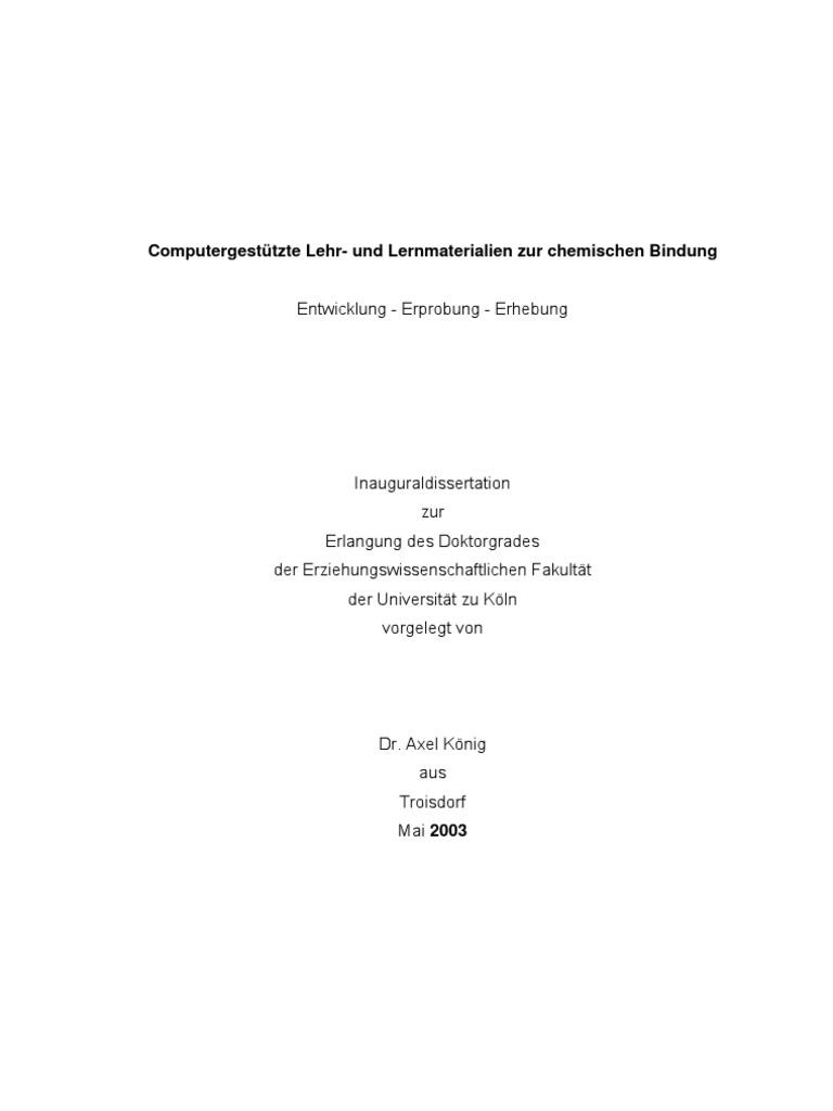 Dissertation Koenig