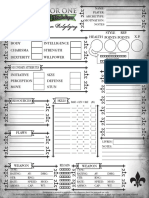 All for One - Character sheet