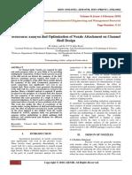 Structural Analysis AndOptimizationOfNozzleAttachmentOnChannelShellDesign