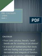 PRE- CALCULUS (STEM)