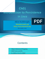 Ch01 Introduction to Persistence in Java