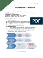 Diagnosis and Management of Hemiplegia