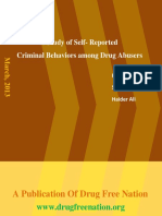 A Study of Self- Reported  Criminal Behaviors among Drug Abusers