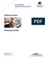 Reflective Essay booklet - CTL, University of Newcastle