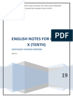 Complete Notes English 10 sindh Text Book Board (STB)