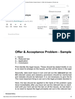 Contract Problem Sample Answer-1 _ Offer And Acceptance _ Private Law