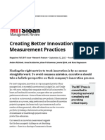 Creating Better Innovation Measurement Practices