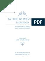 1. TALLER FINAL MERCADEO