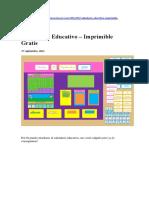 Calendario educativo Montessori