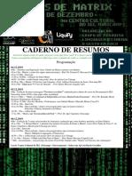 caderno de Resumos 20 anos Matrix