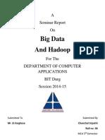 Seminar Report on Bigdata and Hadoop