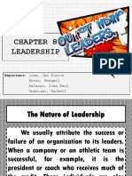 HBO CHAPTER 8- LEADERSHIP