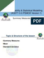 PSMOD_Summary Measures of Statistics
