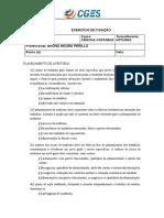 Exercícios Auditoria I - Revisão NTII