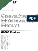Manual de O y M CAT 3516