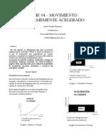 INFORME #4 – MOVIMIENTO UNIFORME ACELERADO